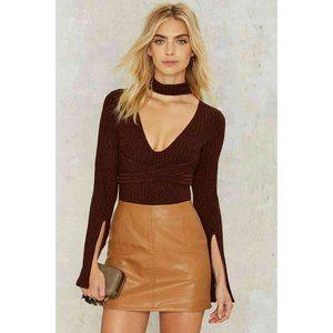 NG Lavish Alice Split Your Sides Knit Bodysuit